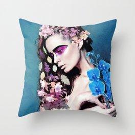 Depressed women Throw Pillow