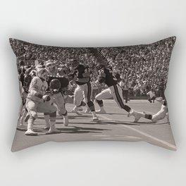 Roland Harper : Bears vs. Lions : Soldier Field : 1974 Rectangular Pillow