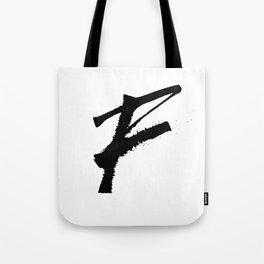 Letter F Ink Monogram Tote Bag