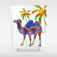 camel Shower Curtains featuring Camel by haroulita