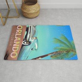 Orlando Florida vintage travel poster, Rug