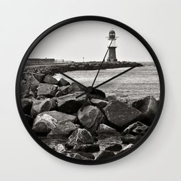 Lighthouse - Warnemuende - Beach - Baltic Sea Wall Clock