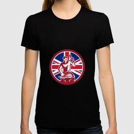 British Blacksmith Union Jack Flag Icon T-shirt