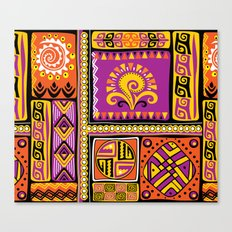 Ornamental African Pattern Canvas Print