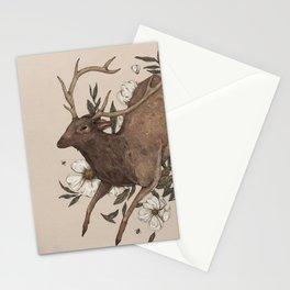 Floral Elk Stationery Cards