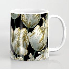 Winter Tulips in Gold. Coffee Mug