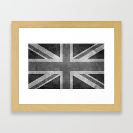 Union Jack Vintage 3:5 Version in grayscale Framed Art Print