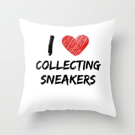I Love Collecting Sneakers Throw Pillow
