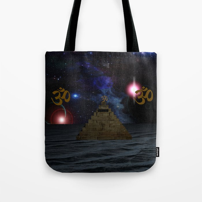 OM and the space Pyramid Tote Bag