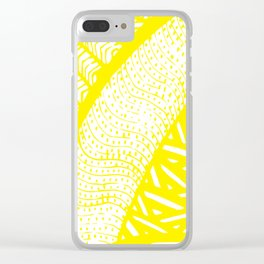 Free Hand Zesty Lemon Doodle Design Clear iPhone Case