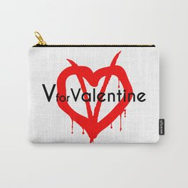 V for Valentine. Happy Valentine's day Carry-All Pouch