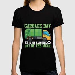Garbage Day Truck Waste Disposal Dumpster T-shirt