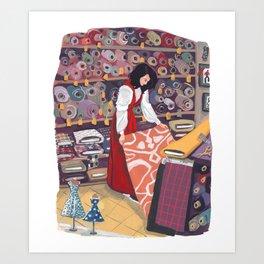 Fabric Store Art Print