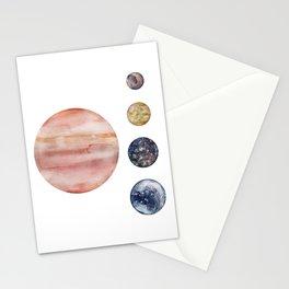 Jupiter & Moons Stationery Cards