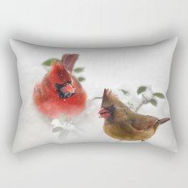 Mr. and Mrs. Cardinal Rectangular Pillow