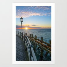 Sun Rise At Worthing Art Print