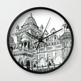 Rajasthan Palace White Wall Clock