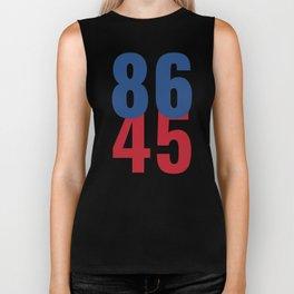 86 45 Anti Trump Impeachment T-Shirt / Politics Gift For Democrats, Liberals, Leftists, Feminists Biker Tank