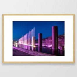 The Fountains at Branson Landing - Dusk Light Framed Art Print