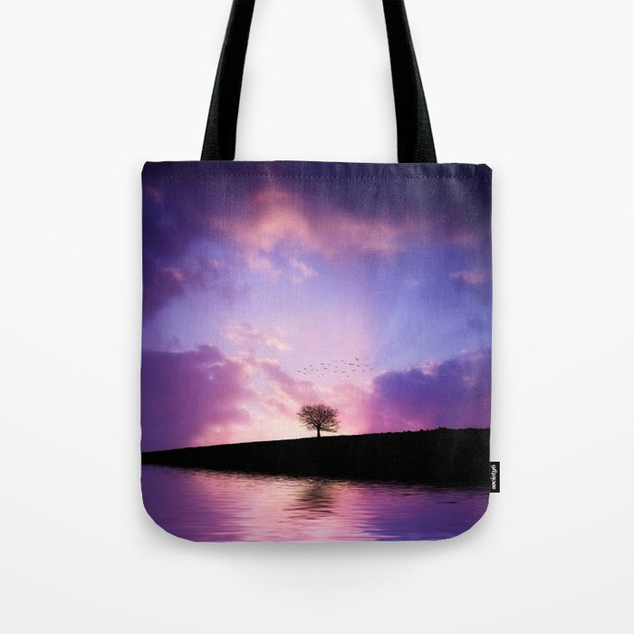 The sunset tree Tote Bag