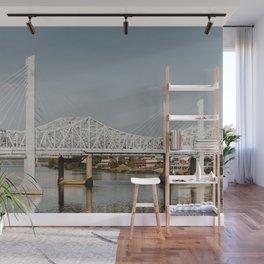 Louisville Bridges on the Ohio River Wall Mural