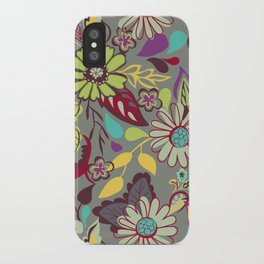 Large Bright Blooms iPhone Case