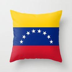 National flag of  Venezuela - Authentic version Throw Pillow