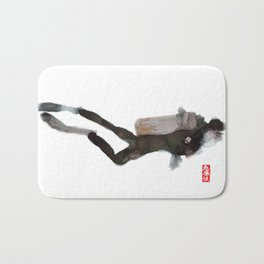 Scuba Diver Watered Down Bath Mat