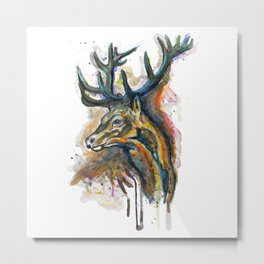 Elk Head Metal Print