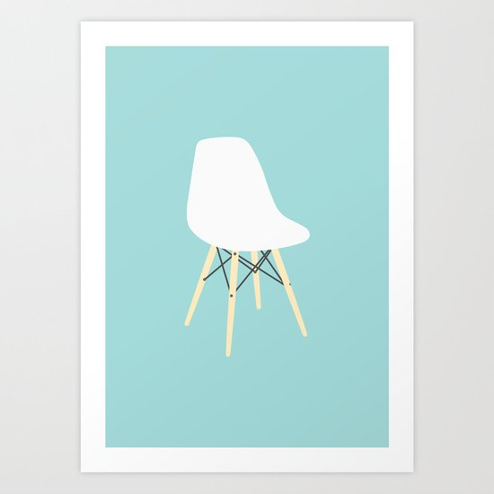 #98 Eames Chair Art Print