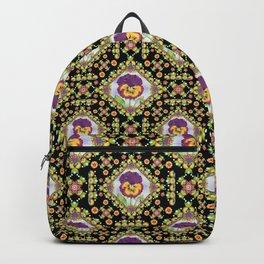 Purple Pansy Portrait Backpack