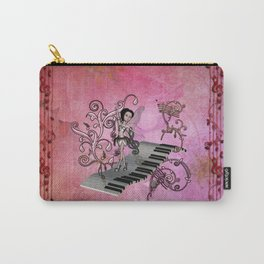 Cute fairy dancing on a piano Carry-All Pouch