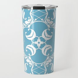 Blue Leaf Lace Travel Mug