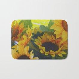 California Sunflowers Bath Mat