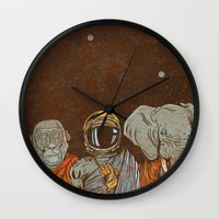 spiritual Wall Clocks featuring Spiritual Animals by Thomcat23