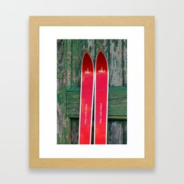 Vintage Skis - Fischer Alu Framed Art Print