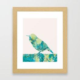 Pink tweet Framed Art Print