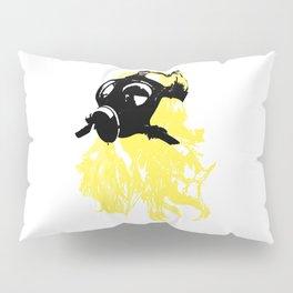 Blonde Gasmask Pillow Sham