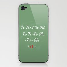 Math love iPhone & iPod Skin