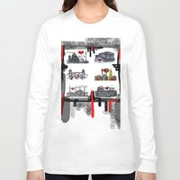 cities Long Sleeve T-shirts featuring Cities 2 by sladja