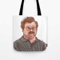 swanson Tote Bags featuring Swanson by Hannah Joe