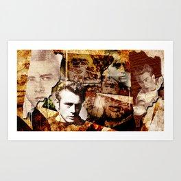 Jame Dean - Grunge Style - Art Print