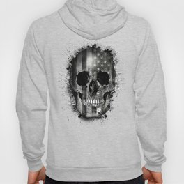 usa black and white skull Hoody