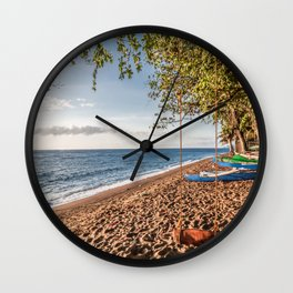 Dauin Beach at Sunrise Wall Clock