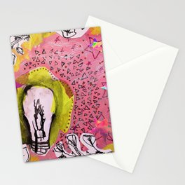 Light Bulb Collage Stationery Cards