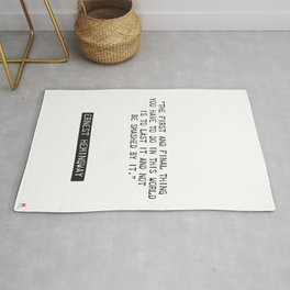 Ernest Hemingway quote two Rug