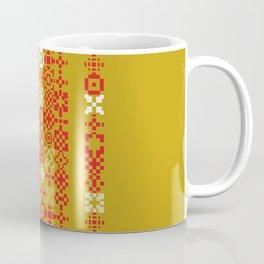 Red gold green abstract modern geometric background, pattern Coffee Mug