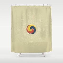 Gankyil – Wheel of Joy Shower Curtain