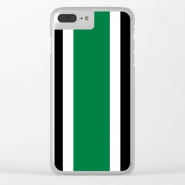 TEAM COLORS 10....GREEN,BLACK Clear iPhone Case