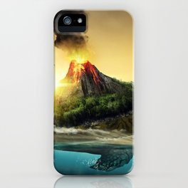 Fairytale Fable Sea Reptile Magma On Back Dreamy UHD iPhone Case